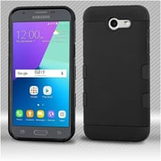 Insten TUFF Trooper (Shock Absorbing) Hybrid Case with Package For Samsung Galaxy Express Prime 2 / J3 (2017) - Black