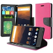 Insten PU Leather Flip Wallet Credit Card Stand Case Cover For ZTE Max XL N9560 - Hot Pink