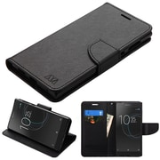 Insten Liner MyJacket Leather Wallet Card Flip Stand Case For Sony Xperia L1 - Black