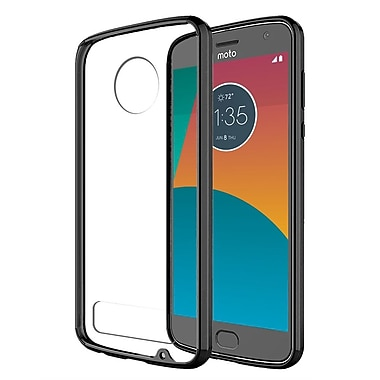 Insten Fusion Candy TPU Acrylic Hybrid Case Cover for Motorola Moto Z2 Play - Clear/Black