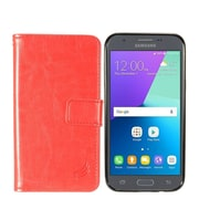 Insten Detachable Magnetic Leather Case For Samsung Galaxy Amp Prime 2/Express Prime 2/J3 (2017)/J3 Emerge - Red