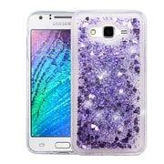 Insten Quicksand Hearts Glitter Hybrid Hard Protective Case Cover For Samsung Galaxy J7 (2015) - Purple