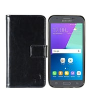 Insten Detachable Magnetic Folio Leather Case For Samsung Galaxy Amp Prime 2/Express Prime 2/J3 (2017)/J3 Emerge - Black