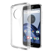 Insten Fusion Candy Acrylic TPU Rubber Skin Gel Case Cover For Motorola Moto G5 - Clear