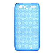 Insten Crystal TPU Rubber Candy Skin Transparent Case Cover For Motorola Droid Razr Maxx - Blue
