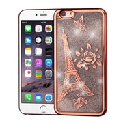 Insten Electroplating Eiffel Tower Quicksand Glitter Hybrid Case For Apple iPhone 6s Plus / 6 Plus - Rose Gold/Silver