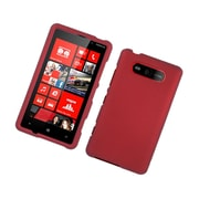 Insten Rubberized Hard Snap On Protective Case Cover For Nokia Lumia 820 - Red