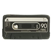Insten Cassette Tape Crystal TPU Rubber Candy Skin Case Cover For Apple iPhone 4 - Black