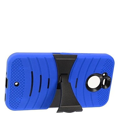 Insten Wave Symbiosis Armor Hybrid Dual Layer Stand Silicone/PC Case For HTC Bolt - Blue/Black