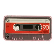 Insten Cassette Tape Crystal TPU Rubber Candy Skin Case Cover For Apple iPhone 4 - Red