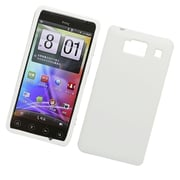 Insten Hard Snap On Back Rubber Protective Case Cover For Motorola Droid Razr HD XT926 - White