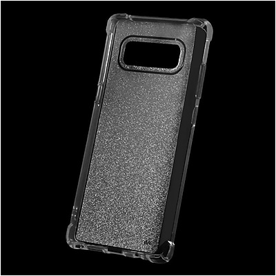 Insten Sheer Glitter TPU Candy Skin Case Cover For Samsung Galaxy Note 8 - Smoke 24230521