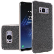 Insten Hybrid Glitter PC/TPU Transparent Case Cover For Samsung Galaxy S8+ S8 Plus - Smoke