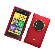 Insten Hard Snap On Back Rubber Protective Case Cover For Nokia Lumia 1020 - Red