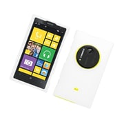 Insten Hard Snap On Back Rubber Protective Case Cover For Nokia Lumia 1020 - White