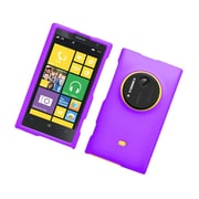 Insten Hard Snap On Back Rubber Protective Case Cover For Nokia Lumia 1020 - Purple