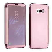 Insten Electroplating High Gloss Executive Hard Snap On Flip Case Cover For Samsung Galaxy S8+ S8 Plus - Rose Gold