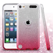 Insten Gradient Glitter Hybrid Hard PC/TPU Shockproof Case Cover For Apple iPod Touch 5th Gen / 6th Gen - Pink