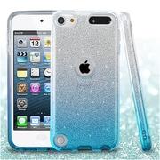 Insten Gradient Glitter Hybrid Hard PC/TPU Shockproof Case Cover For Apple iPod Touch 5th Gen / 6th Gen - Blue