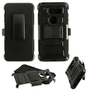 Insten Advanced Armor Dual Layer Hybrid Stand PC/TPU Rubber Holster Case Cover for LG V30 - Black