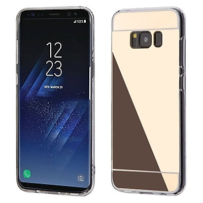 Insten Transparent Clear Gummy TPU Rubber Gel Case Cover For Samsung Galaxy S8+ S8 Plus - Gold/Clear 24230433