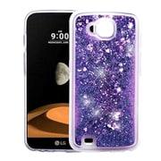 Insten Quicksand Hearts Glitter Hybrid Hard Snap-in Case Cover For LG V9 - Purple