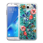 Insten Watercolor Flowers Quicksand (Hearts) Glitter Hybrid Case For Galaxy Express Prime 2/J3 (2017) - Colorful