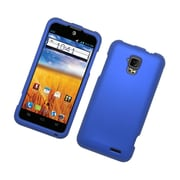 Insten Rubberized Hard Snap On Protective Case Cover For ZTE Mustang - Blue