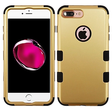 Insten Tuff Dual Layer Hybrid PC/TPU Rubber Case Cover for Apple iPhone 7 Plus - Gold/Black