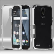 Insten Transparent Clear TUFF Panoview Dual Layer Hybrid Case For LG Stylo 3 - Silver