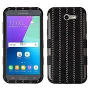 Insten Hybrid Shockproof Case for Samsung Galaxy Amp Prime 2/Express Prime 2/J3 (2017)/J3 Emerge/J3 Luna Pro - Black