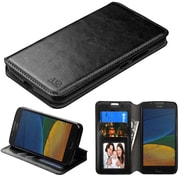 Insten MyJacket Leather Wallet Credit Card Cover Stand Case For Motorola Moto G5 - Black