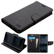 Insten Liner MyJacket Wallet Leather Credit Card Stand Flip Case For Nokia 6 - Black