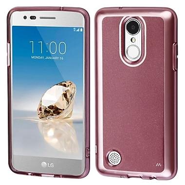 Insten Premium TPU Candy Skin Rubber Back Shell Case For LG Aristo/Fortune/K4 (2017)/K8 (2017)/LV3/Phoenix 3 - Rose Gold