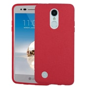Insten Frosted SPOTS TPU Rubber Candy Skin Gel Back Case For LG Aristo/Fortune/K4 (2017)/K8 (2017)/LV3/Phoenix 3 - Red