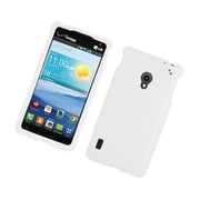 Insten Hard Snap On Back Rubber Protective Case Cover For LG Lucid 2 VS870 - White