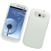 Insten Rubberized Hard Snap-in Protective Case Cover For Samsung Galaxy S3 - White