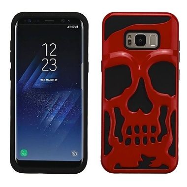 Insten Skullcap Dual Layer Hybrid Hard PC/TPU Case Cover For Samsung Galaxy S8 - Red/Black