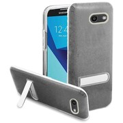 Insten Glitter Hybrid Kickstand PC/TPU Case For Samsung Galaxy J7 (2017)/J7 Perx/J7 Prime/J7 Sky Pro/J7 V - Smoke