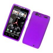 Insten Hard Snap On Back Rubber Protective Case Cover For Motorola Droid Razr XT912 - Purple