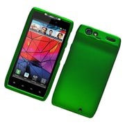 Insten Hard Snap On Back Rubber Protective Case Cover For Motorola Droid Razr XT912 - Green