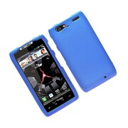 Insten Hard Snap On Back Rubber Protective Case Cover For Motorola Droid Razr Maxx - Blue