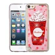 Insten Ice Cream Quicksand Glitter Hybrid Hard PC/TPU Case for Apple iPod Touch 5th Gen / 6th Gen - Red
