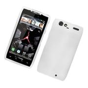 Insten Hard Snap On Back Rubber Protective Case Cover For Motorola Droid Razr XT912 - White