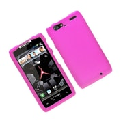 Insten Hard Snap On Back Rubber Protective Case Cover For Motorola Droid Razr Maxx - Hot Pink