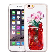Insten Tulip Quicksand Glitter Hybrid Hard PC Protective Case Cover for Apple iPhone 6s Plus / 6 Plus - Red