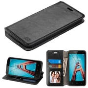 Insten Stand Book-Style Leather [Card Slot] Wallet Flap Pouch Case Cover For Coolpad Defiant - Black
