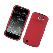 Insten Rubberized Hard Snap On Protective Case Cover For ZTE Flash - Red
