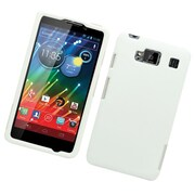 Insten Hard Snap On Back Rubber Protective Case Cover For Motorola Droid Razr Maxx HD - White