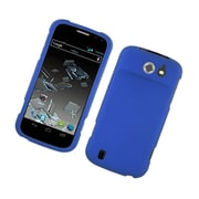 Insten Rubberized Hard Snap On Protective Case Cover For ZTE Flash - Blue